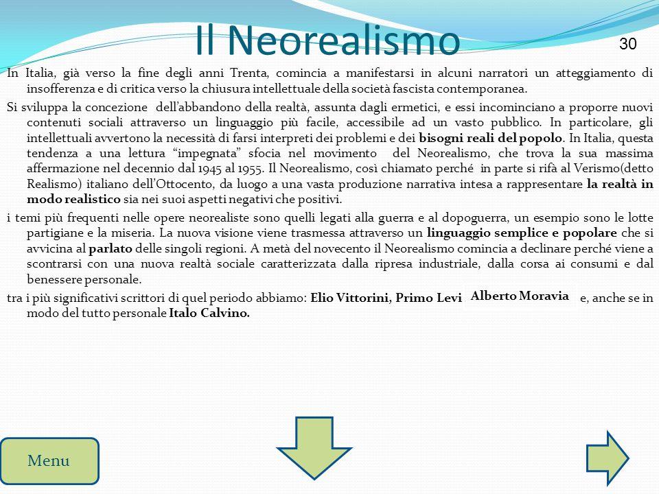 Il Neorealismo 30.