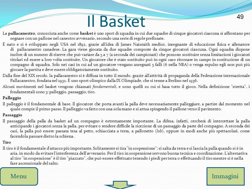 Il Basket 49 Menu Immagini
