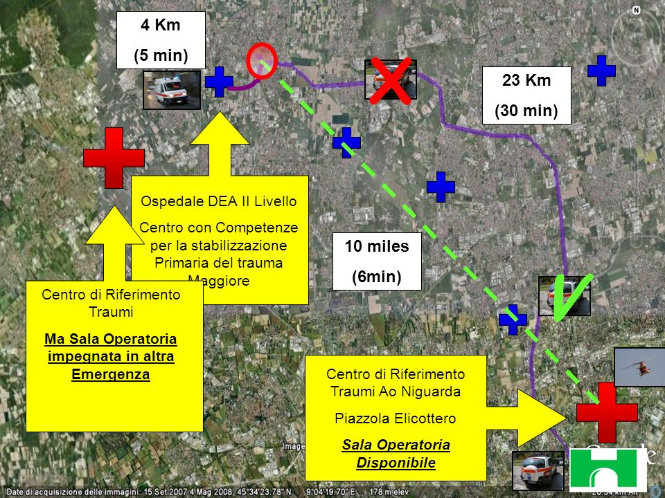 X V 4 Km (5 min) 23 Km (30 min) 10 miles (6min)