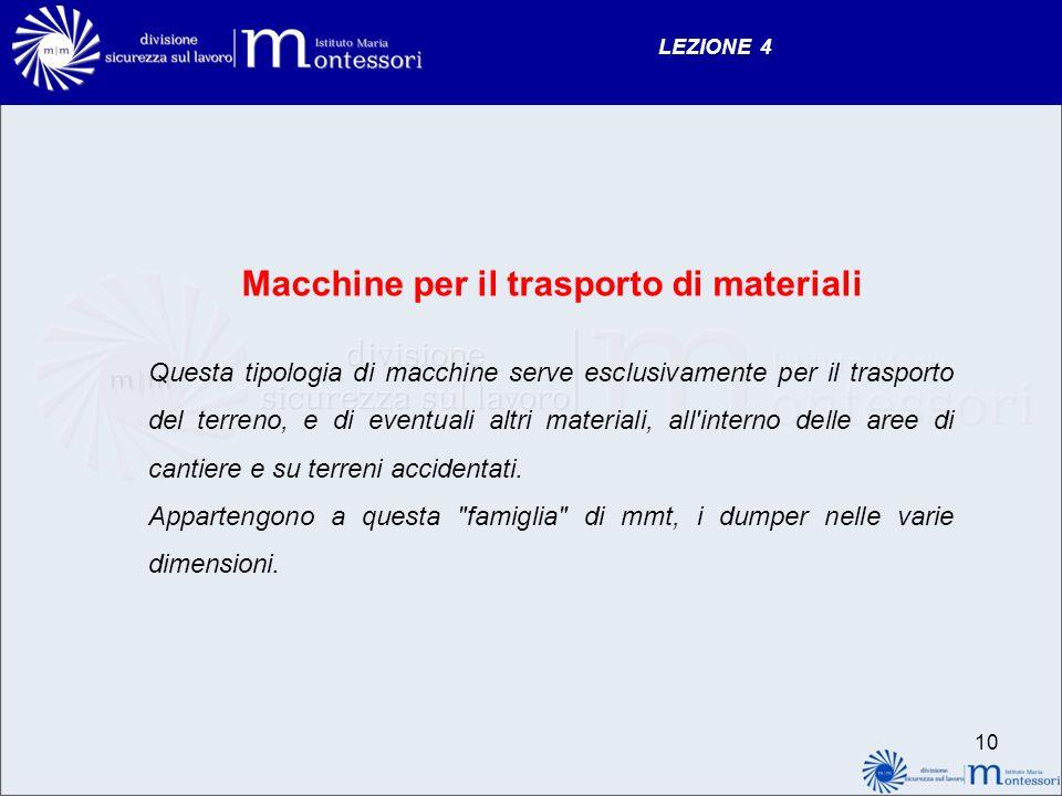 Macchine per il trasporto di materiali