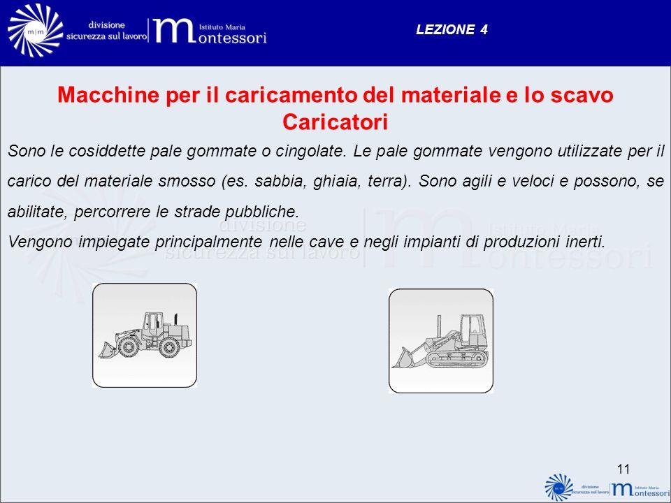 Macchine per il caricamento del materiale e lo scavo