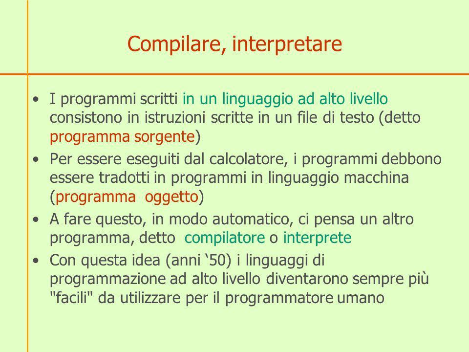 Compilare, interpretare
