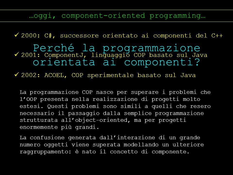 Perché la programmazione orientata ai componenti