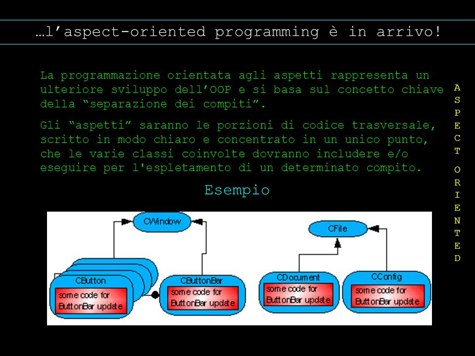 …l'aspect-oriented programming è in arrivo!