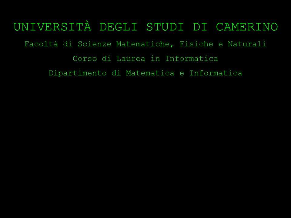 FINE UNIVERSITÀ DEGLI STUDI DI CAMERINO