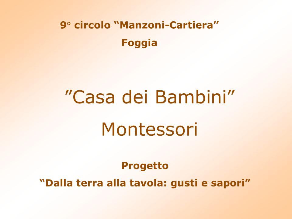 Casa dei Bambini Montessori 9° circolo Manzoni-Cartiera Foggia