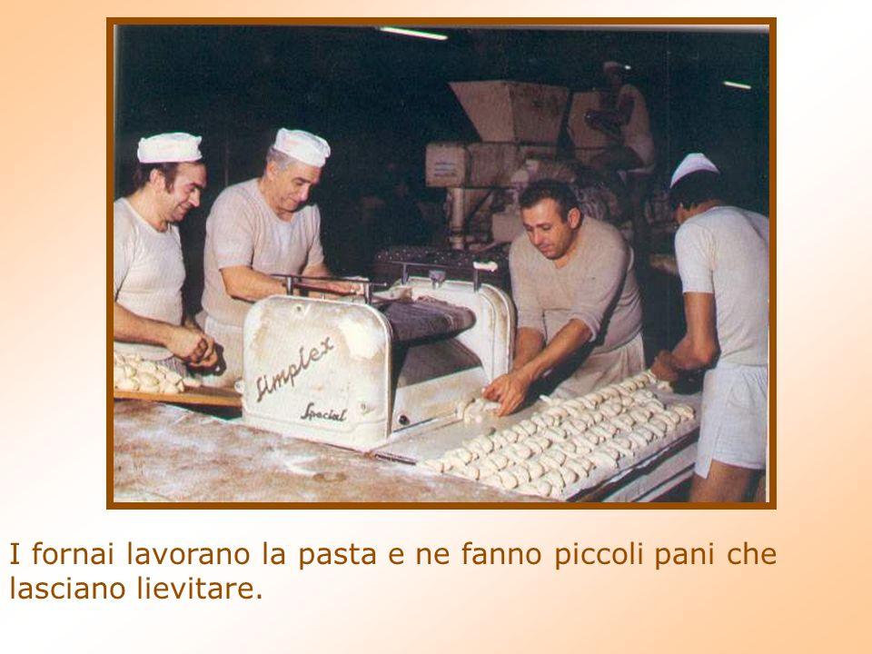 I fornai lavorano la pasta e ne fanno piccoli pani che lasciano lievitare.