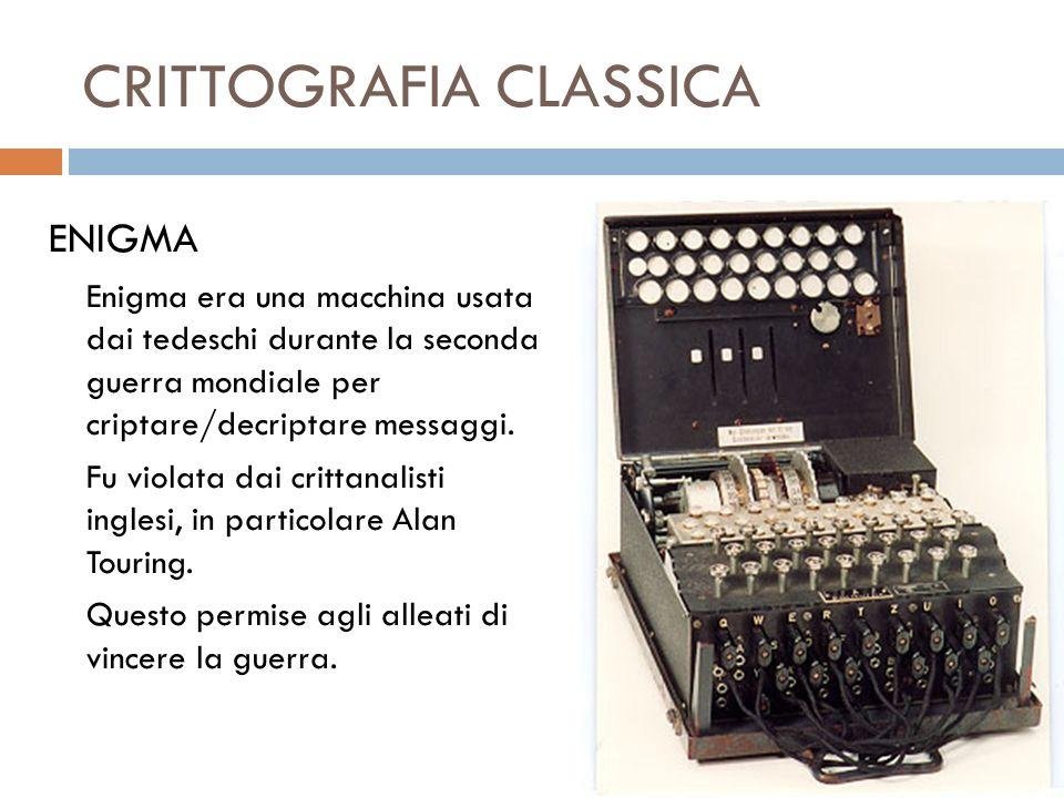 CRITTOGRAFIA CLASSICA