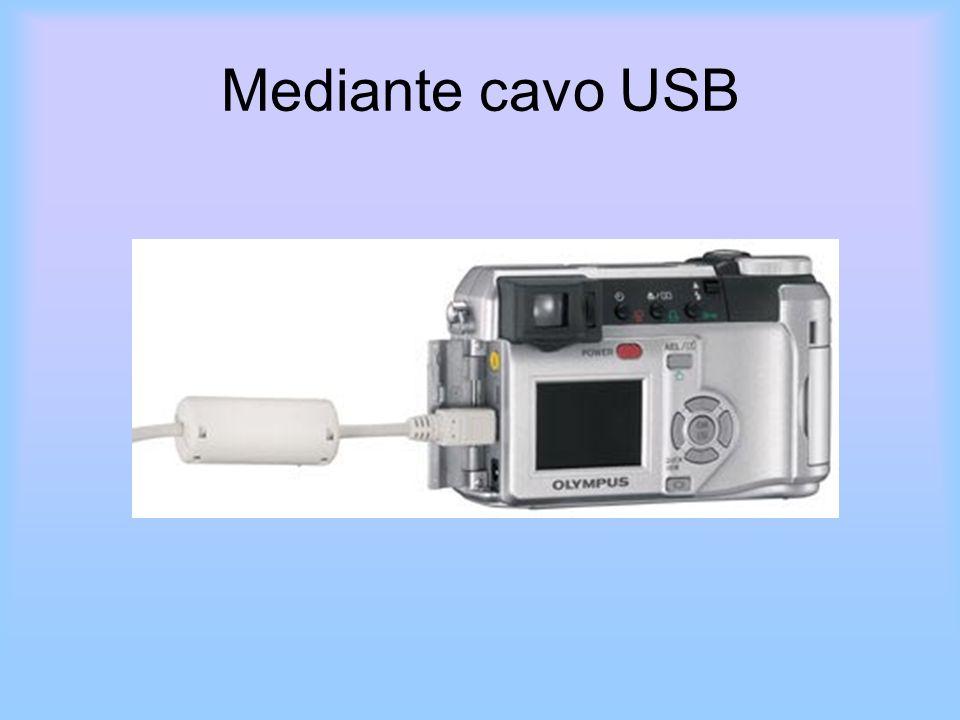 Mediante cavo USB