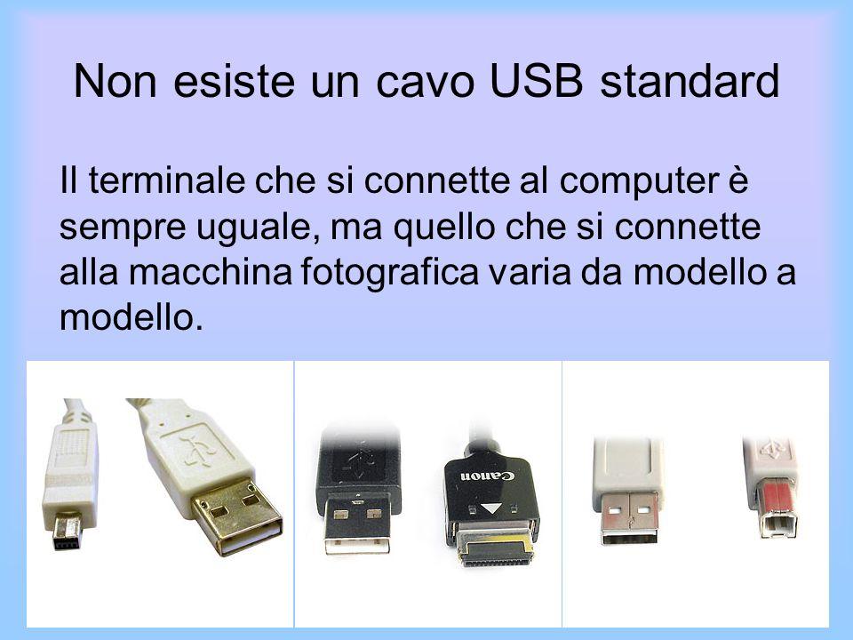Non esiste un cavo USB standard