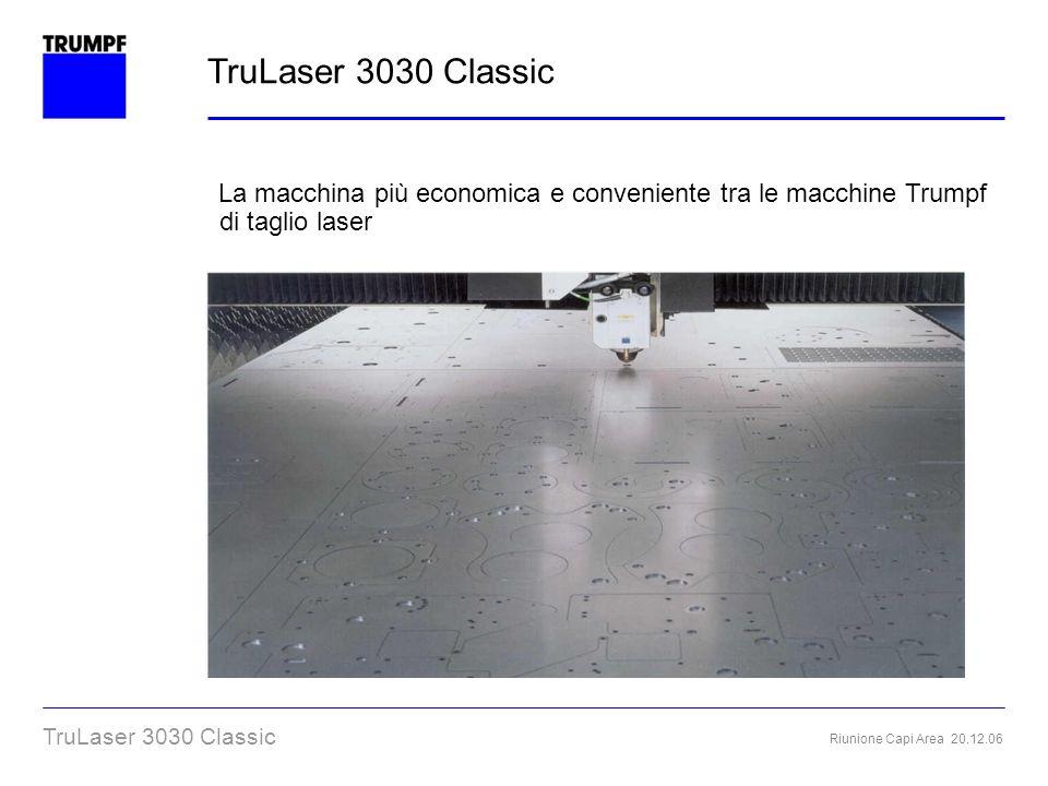 TruLaser 3030 Classic La macchina più economica e conveniente tra le macchine Trumpf di taglio laser.