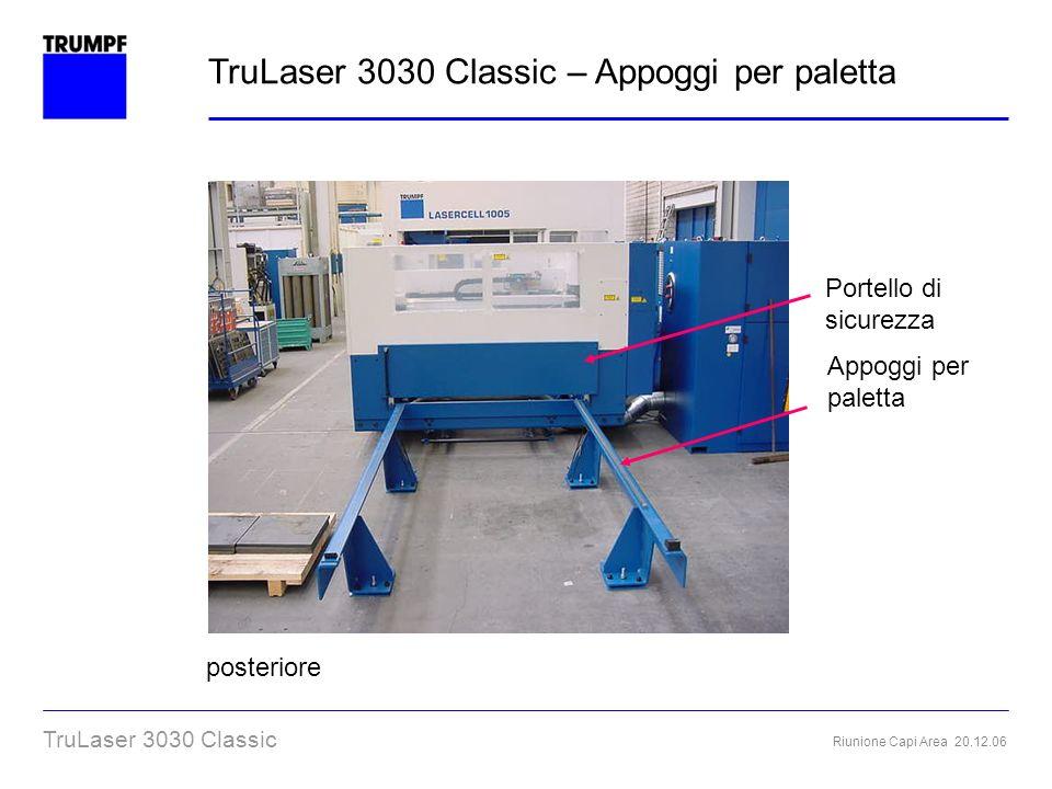 TruLaser 3030 Classic – Appoggi per paletta