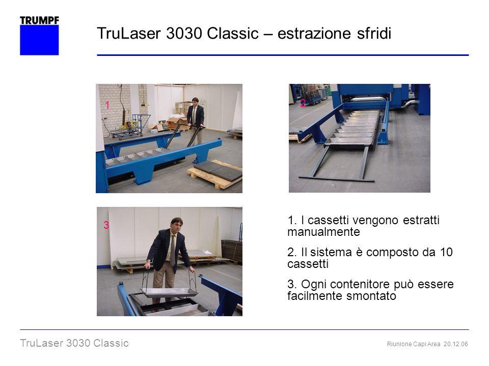TruLaser 3030 Classic – estrazione sfridi