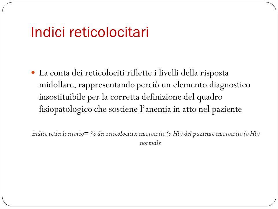 Indici reticolocitari