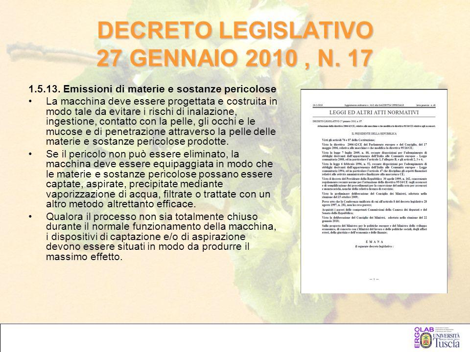 DECRETO LEGISLATIVO 27 GENNAIO 2010 , N. 17