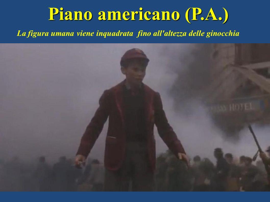 Piano americano (P.A.) La figura umana viene inquadrata fino all altezza delle ginocchia