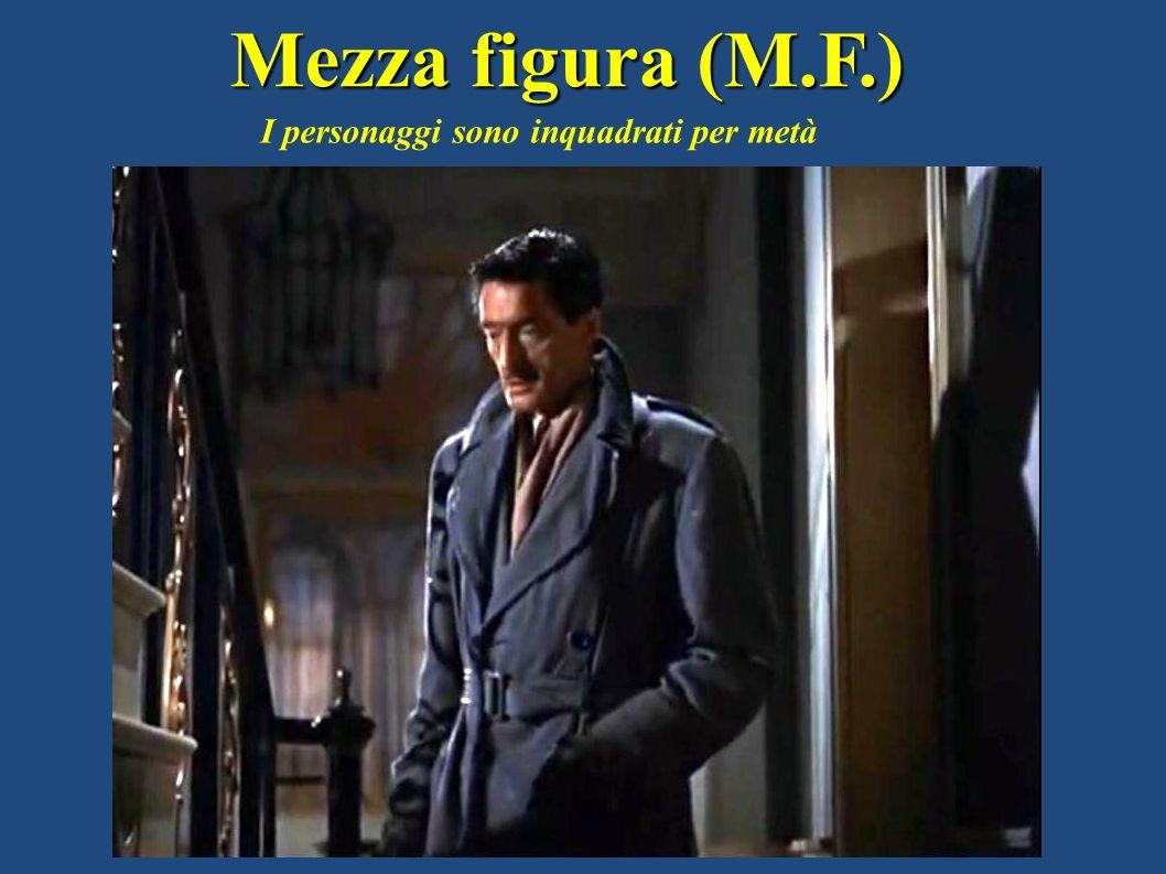 Mezza figura (M.F.) I personaggi sono inquadrati per metà