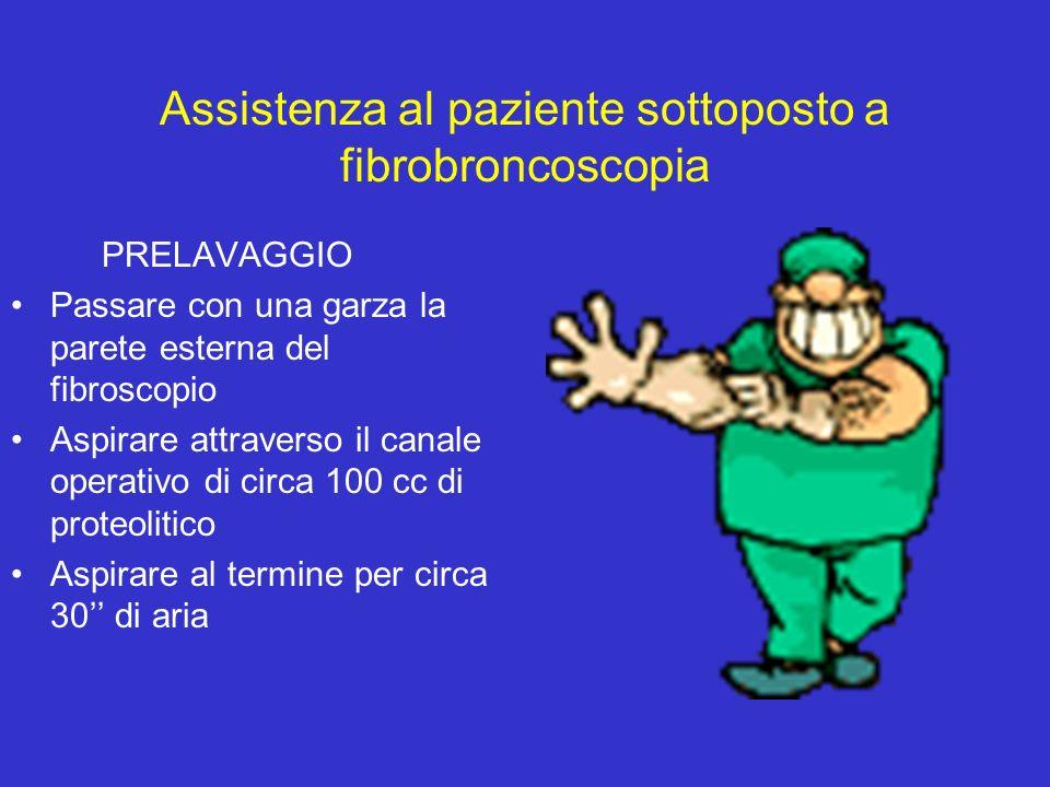 Assistenza al paziente sottoposto a fibrobroncoscopia