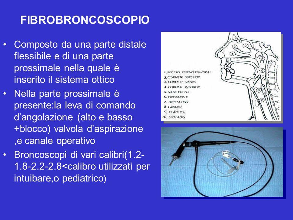 FIBROBRONCOSCOPIO Composto da una parte distale flessibile e di una parte prossimale nella quale è inserito il sistema ottico.