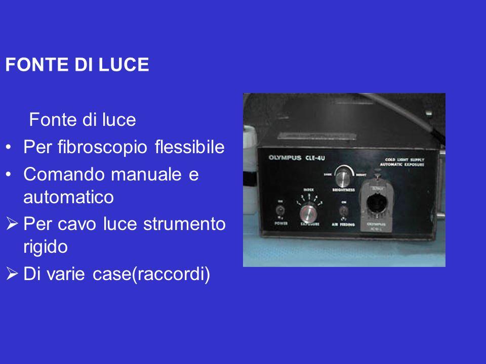 FONTE DI LUCE Fonte di luce. Per fibroscopio flessibile. Comando manuale e automatico. Per cavo luce strumento rigido.