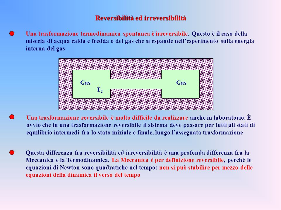 Reversibilità ed irreversibilità
