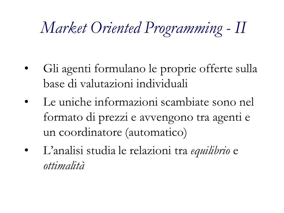 Market Oriented Programming - II