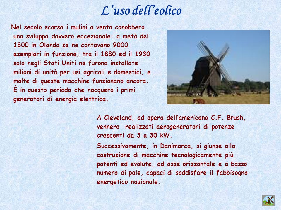 L'uso dell'eolico