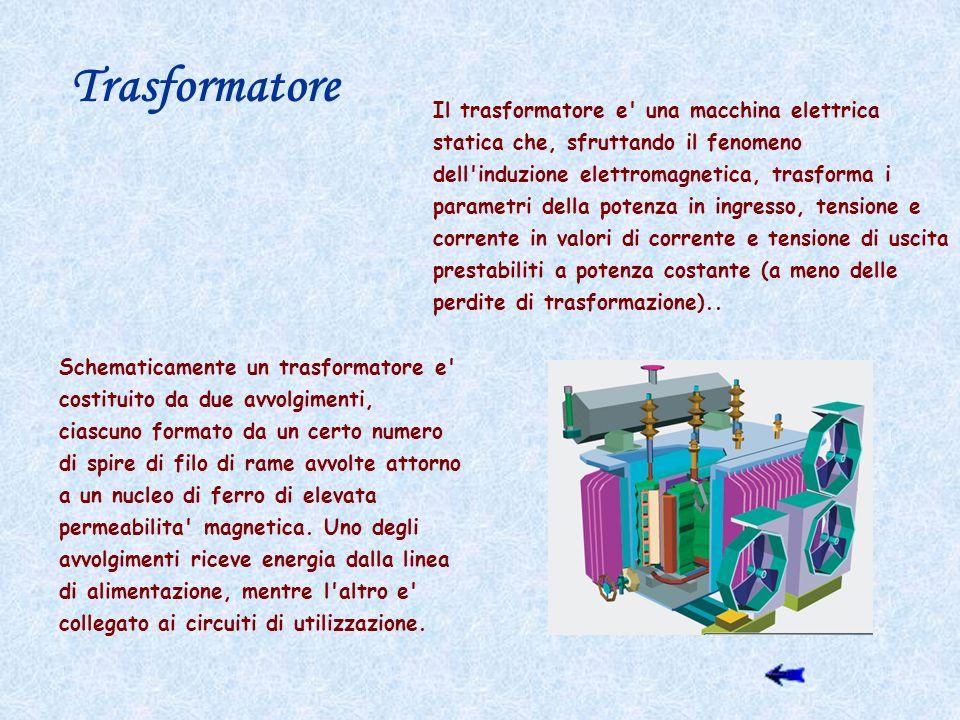 Trasformatore Il trasformatore e una macchina elettrica statica che, sfruttando il fenomeno.