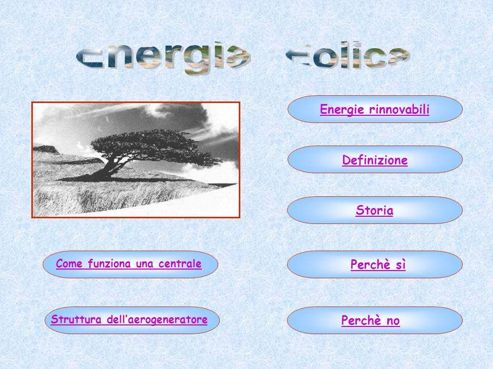 Come funziona una centrale Struttura dell'aerogeneratore