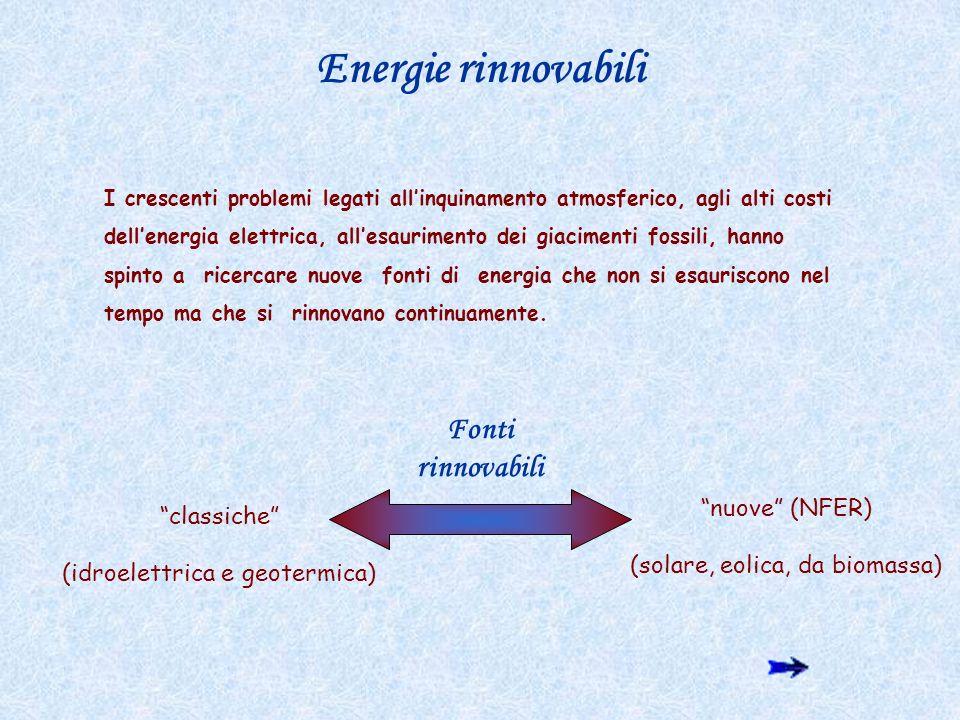 Energie rinnovabili Fonti rinnovabili nuove (NFER) classiche