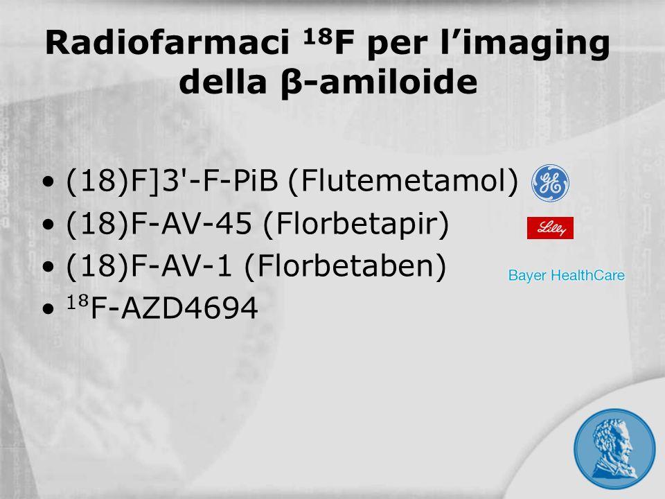Radiofarmaci 18F per l'imaging della β-amiloide