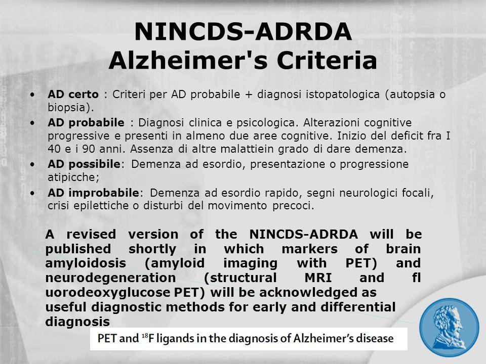 NINCDS-ADRDA Alzheimer s Criteria