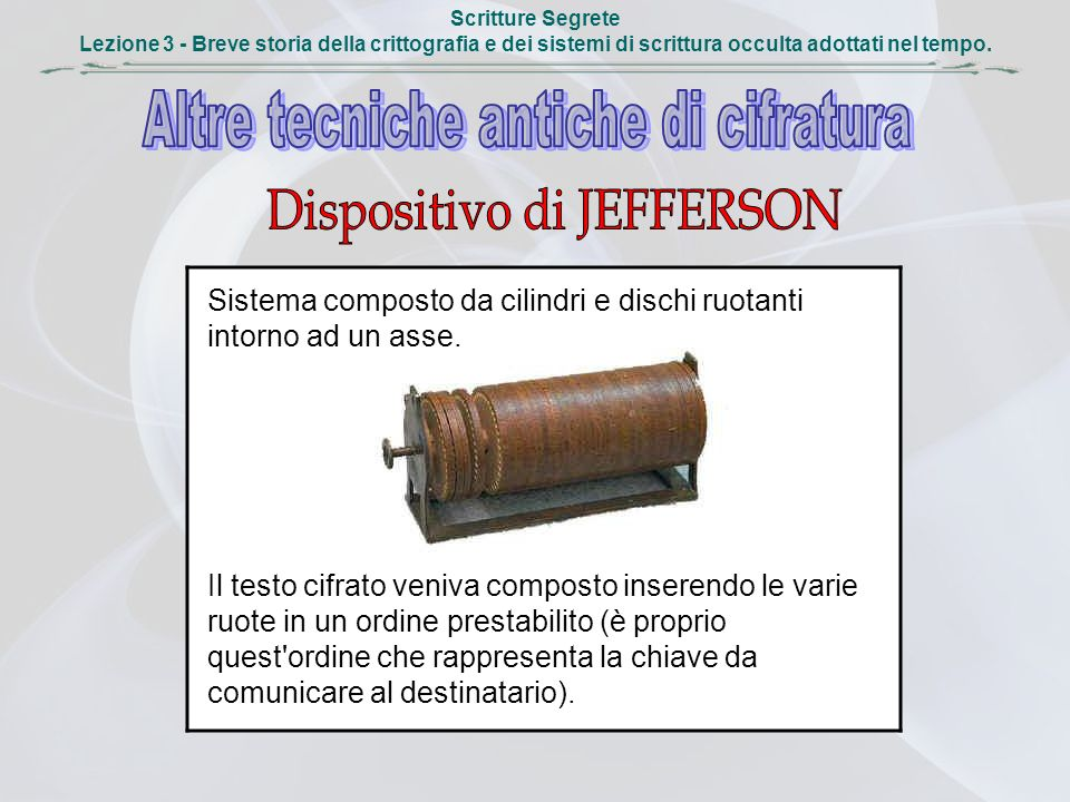 Dispositivo di JEFFERSON
