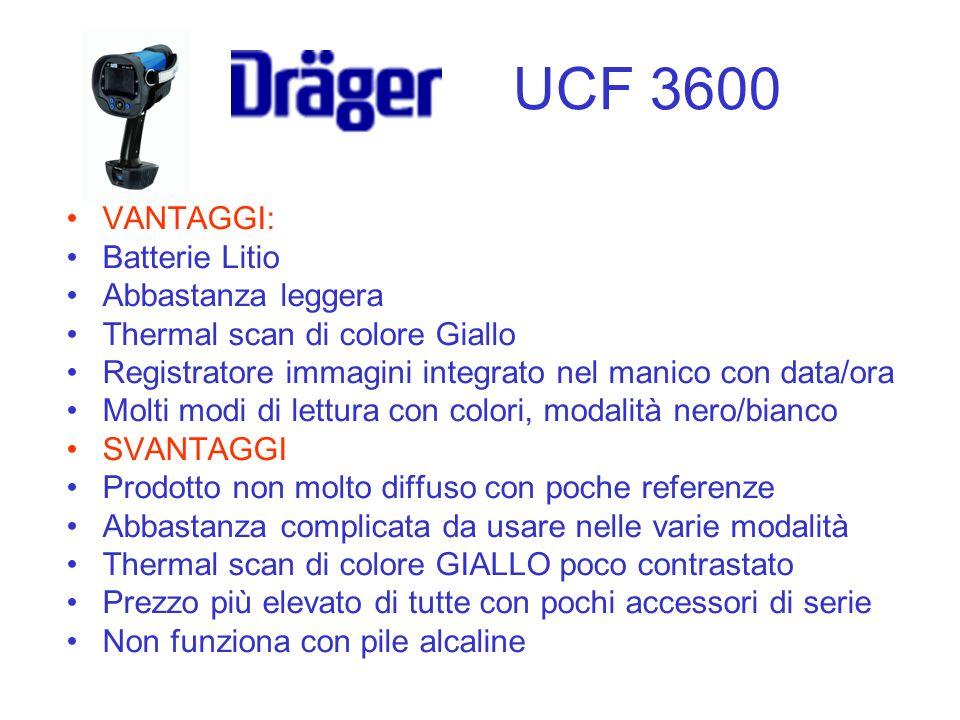 UCF 3600 VANTAGGI: Batterie Litio Abbastanza leggera