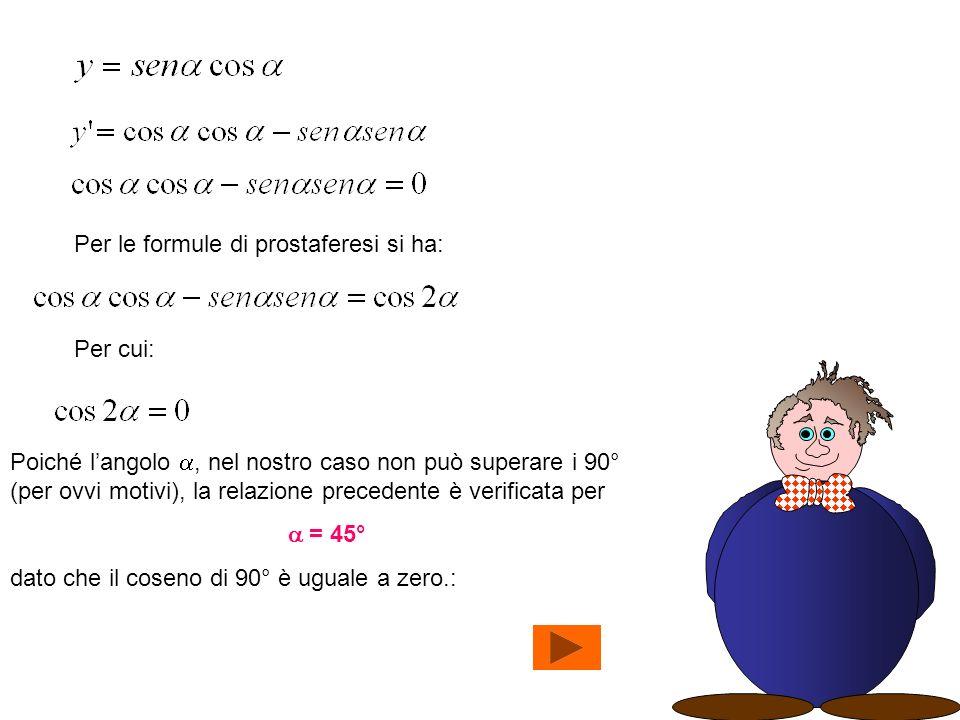 Per le formule di prostaferesi si ha: