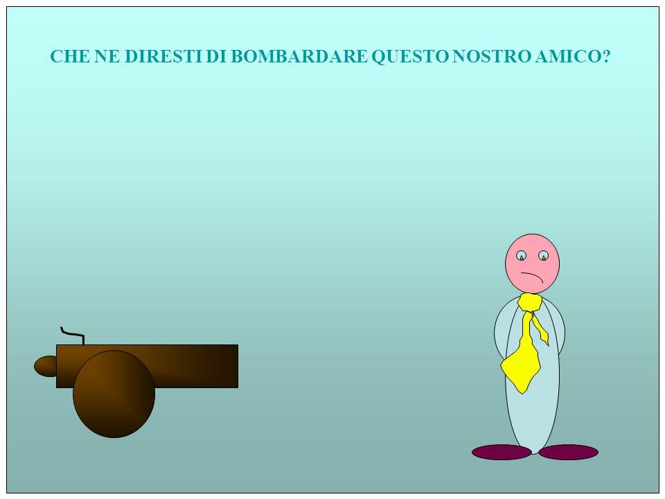 CHE NE DIRESTI DI BOMBARDARE QUESTO NOSTRO AMICO