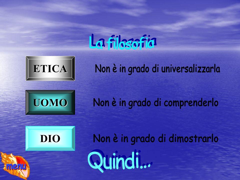 ETICA UOMO DIO La filosofia Quindi...