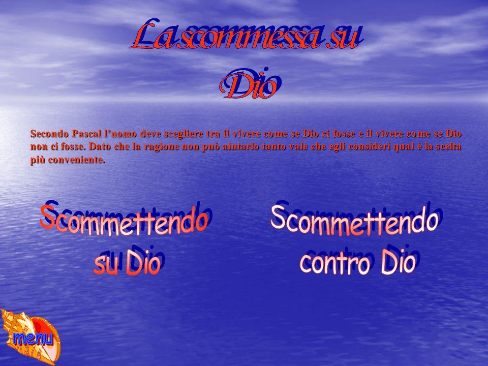 La scommessa su Dio Scommettendo su Dio Scommettendo contro Dio