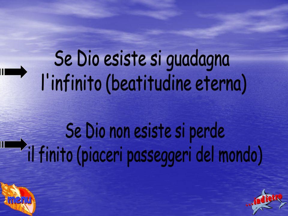 Se Dio esiste si guadagna l infinito (beatitudine eterna)
