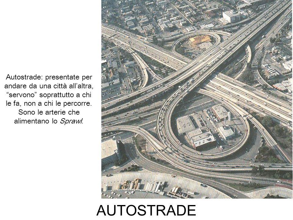 Autostrade: presentate per andare da una città all'altra, servono soprattutto a chi le fa, non a chi le percorre. Sono le arterie che alimentano lo Sprawl.