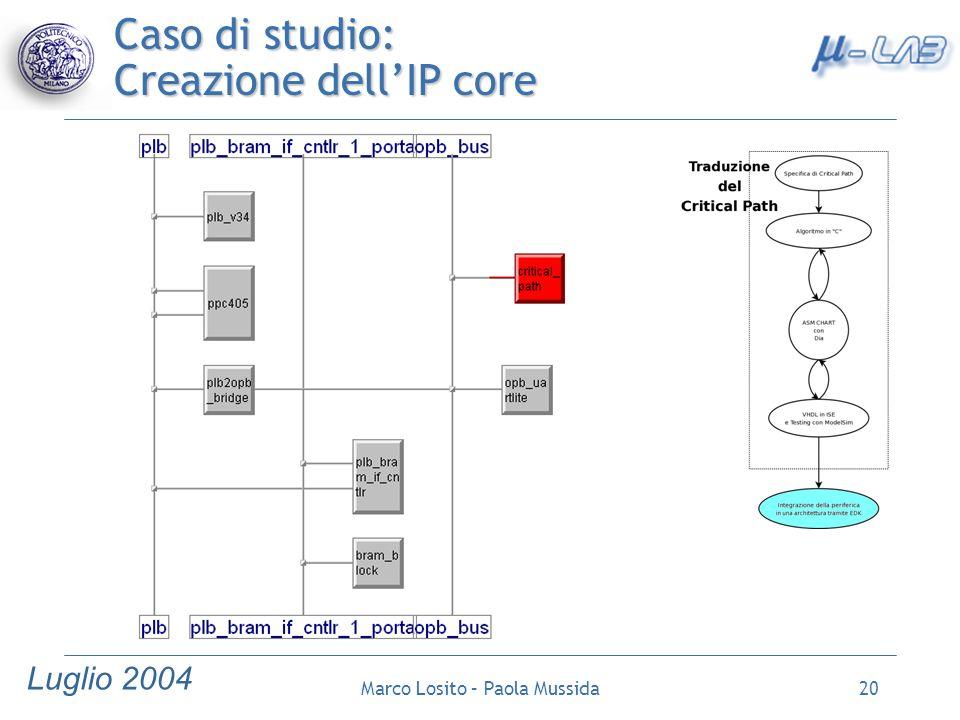 Caso di studio: Creazione dell'IP core