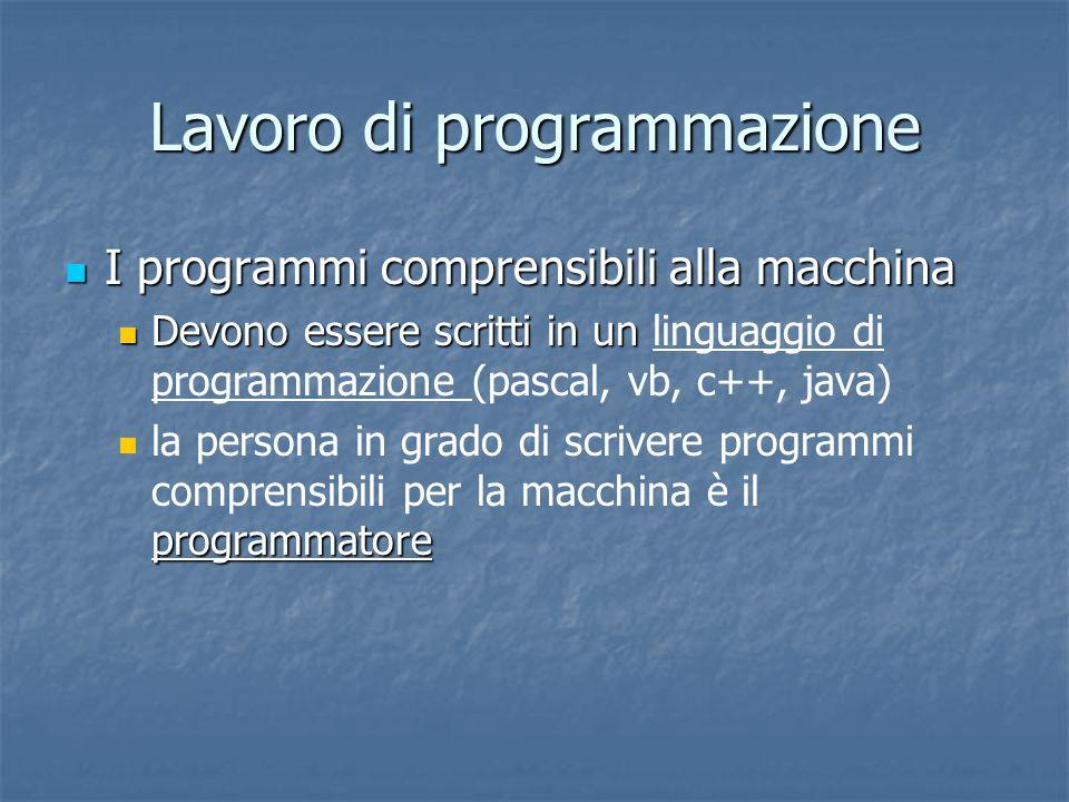 Lavoro di programmazione