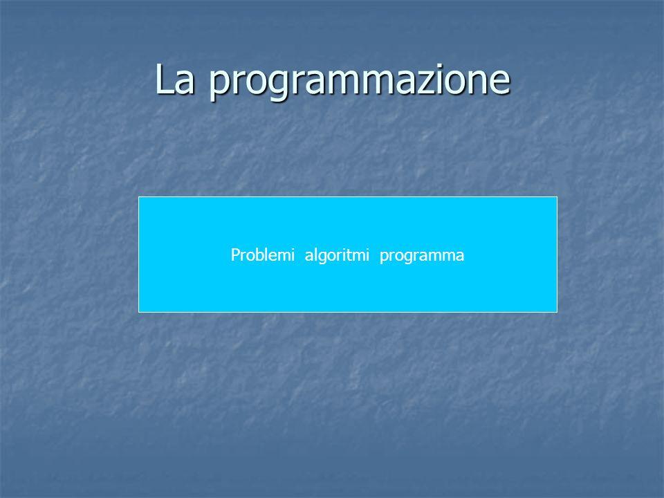 Problemi algoritmi programma