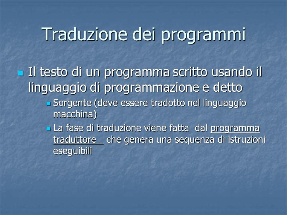 Traduzione dei programmi