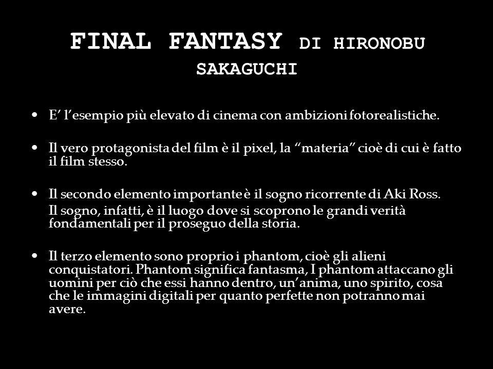 FINAL FANTASY DI HIRONOBU SAKAGUCHI