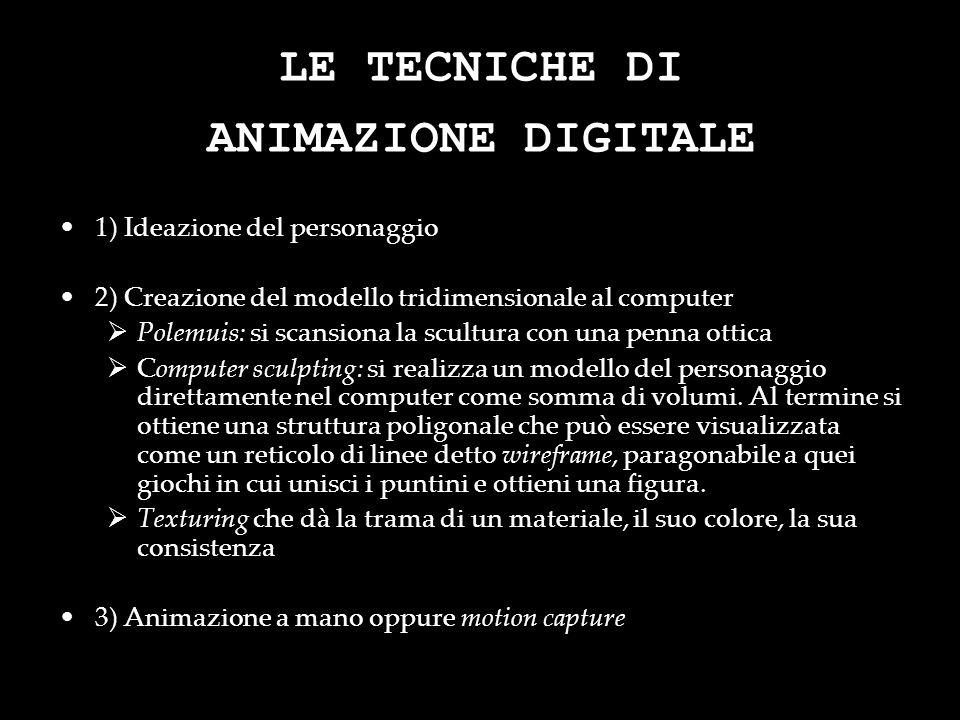 LE TECNICHE DI ANIMAZIONE DIGITALE