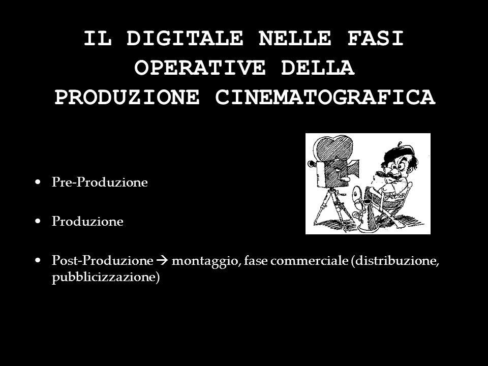 IL DIGITALE NELLE FASI OPERATIVE DELLA PRODUZIONE CINEMATOGRAFICA