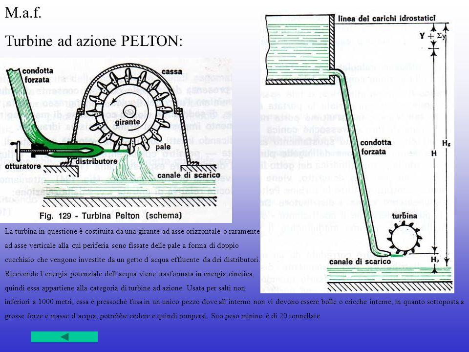 Turbine ad azione PELTON: