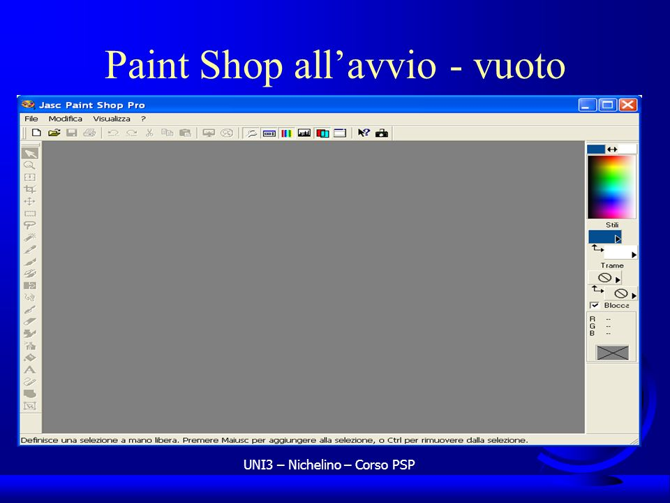 Paint Shop all'avvio - vuoto