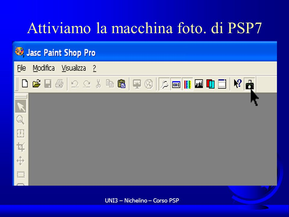 Attiviamo la macchina foto. di PSP7